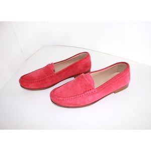 J. Crew Shoes - J. Crew Soft Fuchsia James Suede Penny Loafers